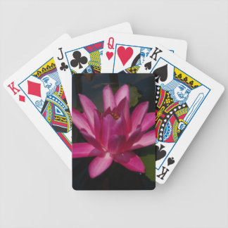 Hot Pink Lotus Waterlily Playing Cards