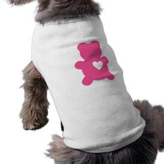 Hot Pink Love Teddy Dog Shirt