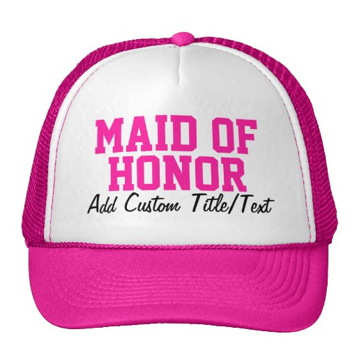 Hot Pink Maid of Honor Hat