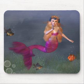 Hot Pink Mermaid Mousepad