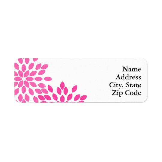 Hot Pink Modern Floral Pattern