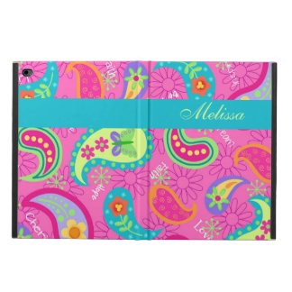Hot Pink Modern Paisley Name Personalized Powis iPad Air 2 Case