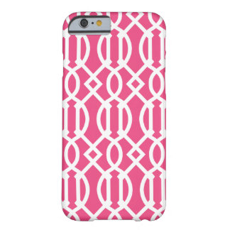 Hot Pink Modern Trellis Pattern Barely There iPhone 6 Case