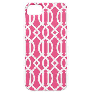 Hot Pink Modern Trellis Pattern Case For The iPhone 5