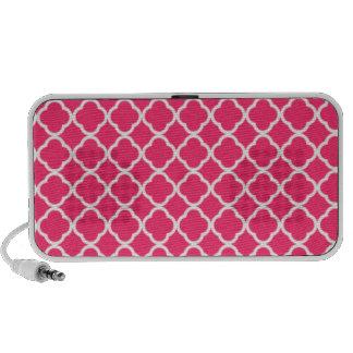 Hot Pink Moroccan Quatrefoil iPhone Speakers