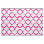 Hot Pink Moroccan Trellis Pattern Fabric