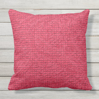 Hot Pink Mosaic Design Large Throw Pillow