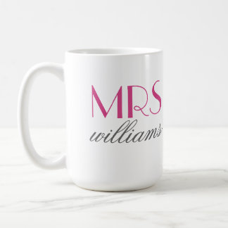 Hot Pink Mrs. Coffee Mug | Bride-to-Be Gift