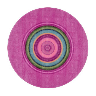 Hot Pink Multicolored Circular Pattern Boards