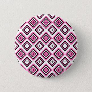 Hot Pink Navajo Inspired Pattern 2 Inch Round Button