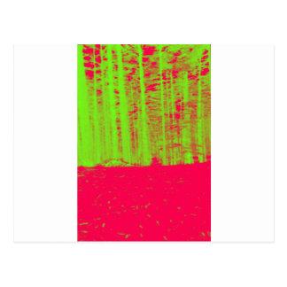 Hot Pink Neon Green Post Modern Art Print Postcard