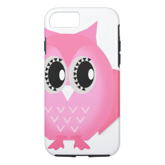 Hot Pink Neon Hootie Hoot Owl iPhone 7 case Tough