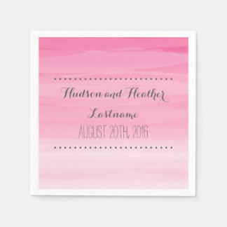 Hot Pink Ombre Wedding Napkins Paper Napkins