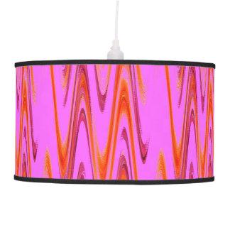 Hot Pink Orange Wave Pattern Lamp Shade