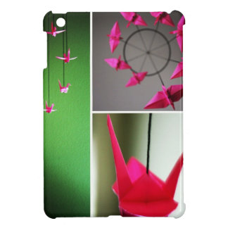 Hot Pink Origami Crane Mobile Cover For The iPad Mini