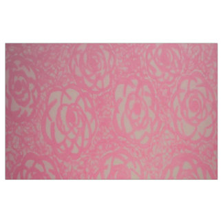 Hot Pink Oversized Rose Print Fabric