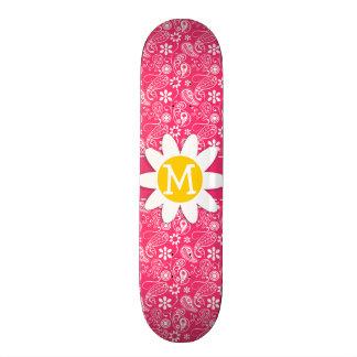 Hot Pink Paisley; Daisy Skateboard