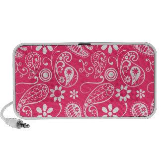 Hot Pink Paisley; Floral Notebook Speaker