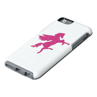 Hot pink pegasus in glitter texture OtterBox iPhone 6/6s case