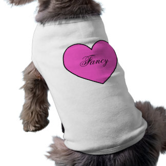 Hot Pink Personalized Heart Pet Apparel Shirt