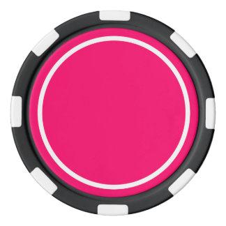 Hot Pink Poker Chips