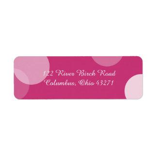Hot Pink Polka Dot Confetti Address Label