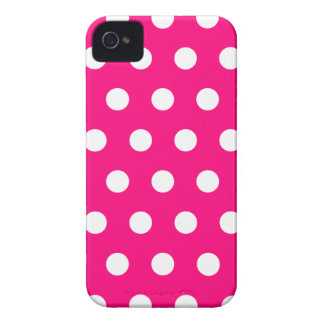 Hot Pink Polka Dot iPhone 4 Case