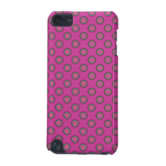Hot Pink Polka Dot Pattern iPod Touch 5G Covers