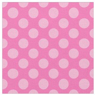 Hot Pink Polka Dots Fabric