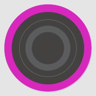 Hot Pink Pop Art Roller Derby Wheel Classic Round Sticker