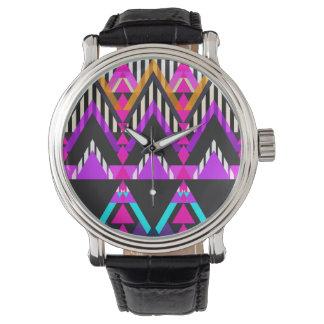 Hot Pink Pop Aztec Watch
