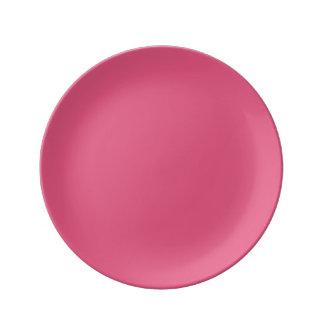 Hot Pink Porcelain Plate