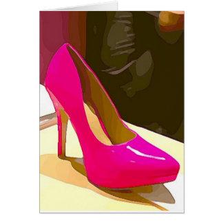 Hot Pink Pump Card