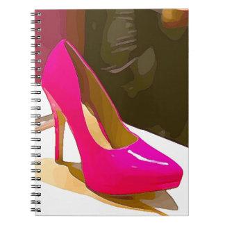 Hot Pink Pump Notebooks