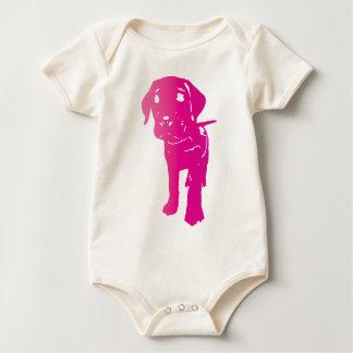 Hot Pink Puppy! Baby Bodysuit