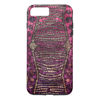Hot Pink Purple Bling Abstract iPhone 7 Plus Case