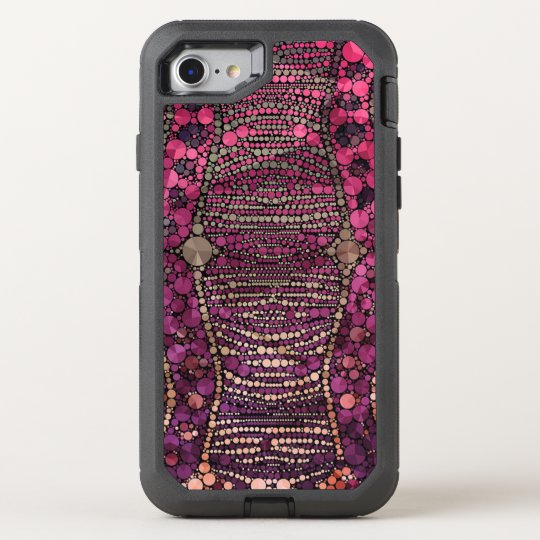 Hot Pink Purple Bling Abstract OtterBox Defender iPhone 8/7 Case