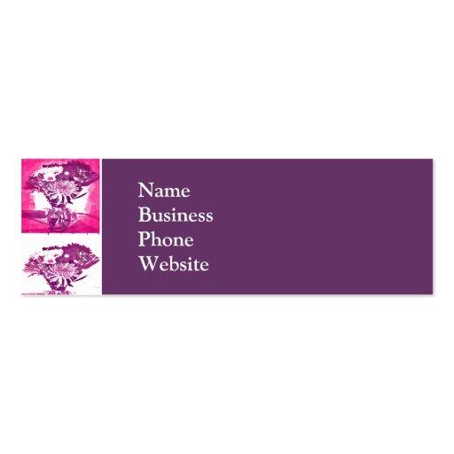 Hot Pink Purple Flower Bouquet in Vase Pop Art Mos Business Cards