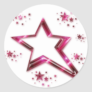 Hot Pink & Purple Rising Star Stickers