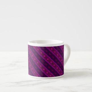 Hot Pink & Purple Stripes Espresso Mug