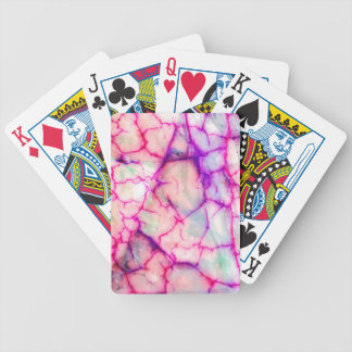 Hot Pink & Purple Veiny Quartz Bicycle Playing Cards