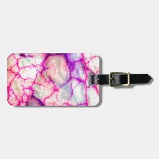 Hot Pink & Purple Veiny Quartz Luggage Tag