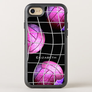 hot pink purple women's volleyball OtterBox symmetry iPhone 8/7 case