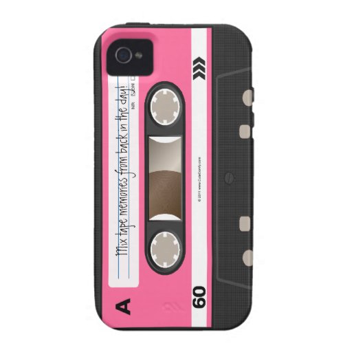 Hot Pink Retro Cassette Tape Personalized Case iPhone 4 Cases