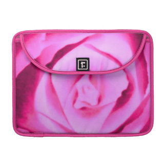 Hot Pink Rose Floral Macbook Pro Flap Sleeve