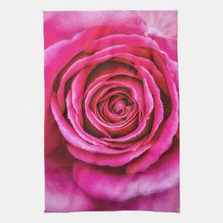 Hot Pink Rose Kitchen Towel