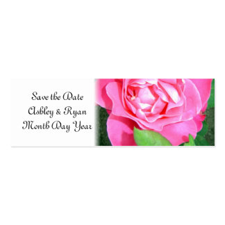 Hot Pink Rose Save the Date Business Card