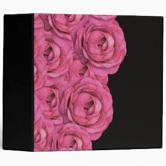 Hot Pink Roses 3 Ring Binder