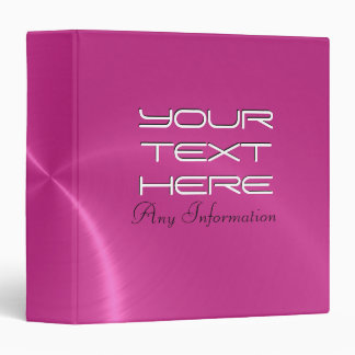Hot pink shiny stainless steel metal binders