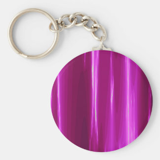 Hot Pink simple Design Basic Round Button Keychain
